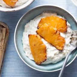 Caramelized Pineapple Adds a Touch of Decadence to Brown Rice Pudding