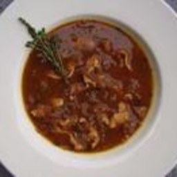 Caramelized Red Onion and Chicken Soup