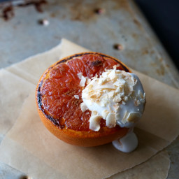 Caramelized Spiced Grapefruit with Coconut