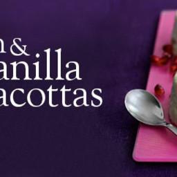 Cardamom and vanilla panacottas