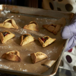 Cardamom Scented Hamantaschen with Pear & Goat Cheese Filling