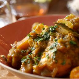 Caribbean chicken and pumpkin curry
