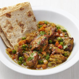 Caribbean Chicken Roti