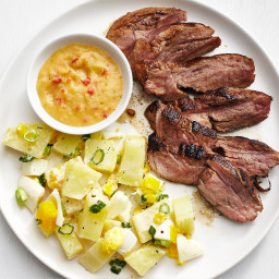 Caribbean Pork with Potato Salad