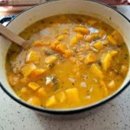 Caribbean Shrimp-&-Pumpkin Chowder