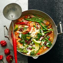 Caribbean vegetable curry