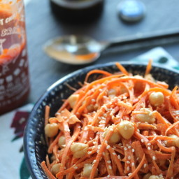 Carrot and Chickpea Salad with Creamy Tahini Dressing