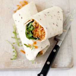 Carrot and houmous roll-ups
