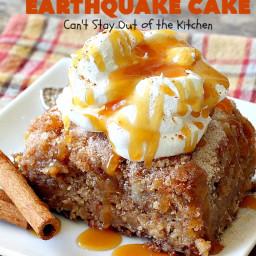 Carrot Cake Earthquake Cake