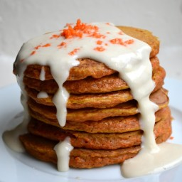 CARROT CAKE PANCAKES and CREAM CHEESE SYRUP