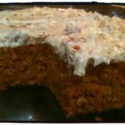 Carrot Cake with Pecan Cream Cheese Icing