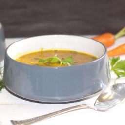 Carrot Celery Soup With Turmeric