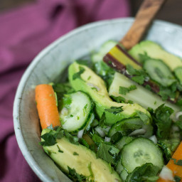 Carrot, Cucumber, and Avocado Salad