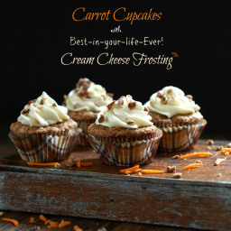 Carrot Cupcakes with Best-in-your-life-Ever! Cream Cheese Frosting