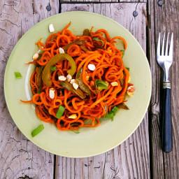 Carrot Noodle Stir Fry