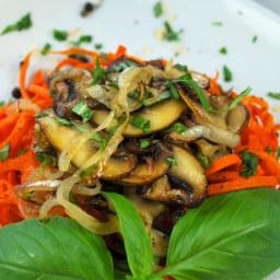 Carrot Pasta with Mushroom Sauce