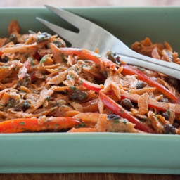 Carrot Salad with Almond Butter Dressing