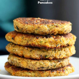 Carrot Zucchini Chickpea Fritters Vegan Recipe
