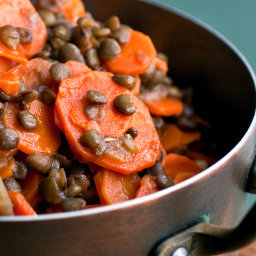 Carrots and Lentils in Olive Oil