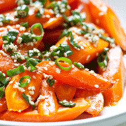 Carrots with Sesame Ponzu Vinaigrette