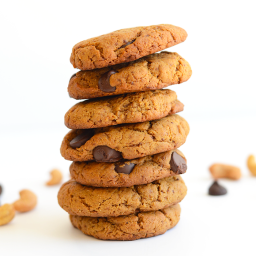 Cashew Butter Chocolate Chip Cookies