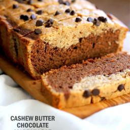 Cashew Butter or Peanut Butter Chocolate Marble Cake. Vegan Gluten free Cak