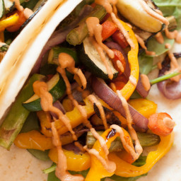 Cashew Chipotle Sauce and Grilled Veggie Tacos