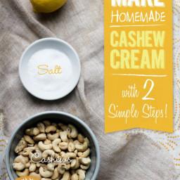 Cashew Cream (Gluten Free and Vegan)