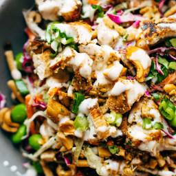 Cashew Crunch Salad with Sesame Dressing