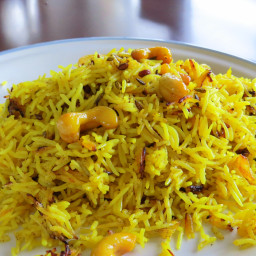 Cashew pulao (rice)