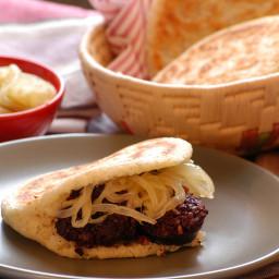 Cassava, Blood Sausage & Caramelized Onion Arepa