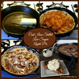 Cast Iron Skillet Low Sugar Apple Pie