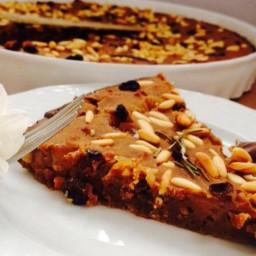 """""""Castagnaccio"""" chestnut cake"""