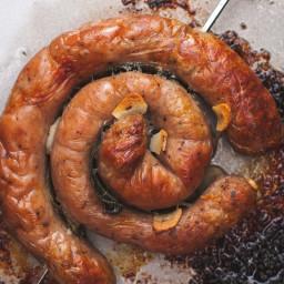 Catherine Wheel Sausage with Garlic and Sage
