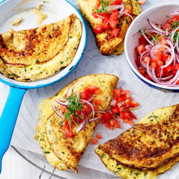 Cauliflower and brie omelettes