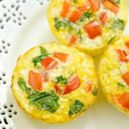 Cauliflower Egg Muffins {GF, Low Cal, Paleo}