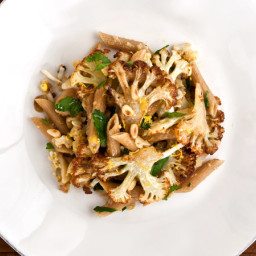 Cauliflower Pasta with Pecorino, Grated Egg, and Pine Nuts