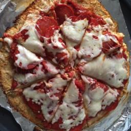 Cauliflower Pizza Crust (gluten free)