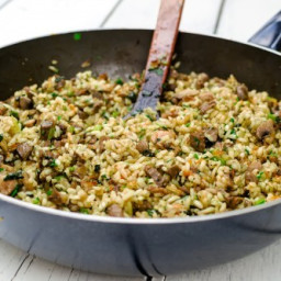 Cauliflower Rice Mushroom Risotto
