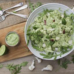 Cauliflower Salad with a Vegan Cashew Lime Pesto Dressing - 2 ways