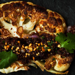 Cauliflower With Quinoa, Prunes, and Peanuts