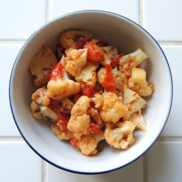 Cauliflower with Tomatoes and Cumin