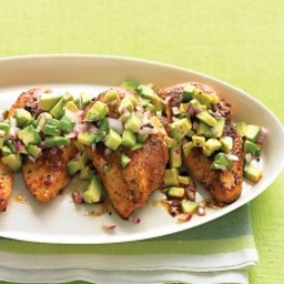 Cayenne-Rubbed Chicken with Avocado Salsa