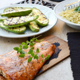 Cedar Planked Grilled Salmon