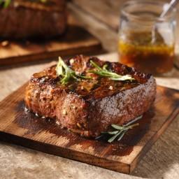 Cedar Planked New York Steak with Rosemary and Honey