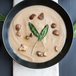 Celeriac and Chestnut Soup