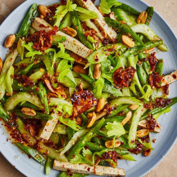Celery, Green Bean, and Tofu Salad with Chile Crisp