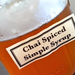chai spiced simple syrup