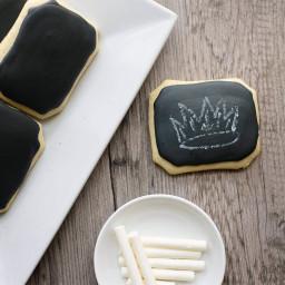 Chalkboard cookies with edible chalk