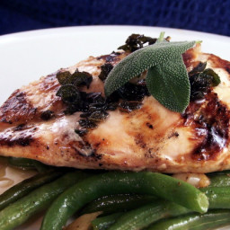 Char-Grilled Chicken With Sage Butter  Aust Ww 4pts